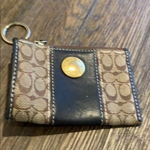 Coach coin purse or key and card holder